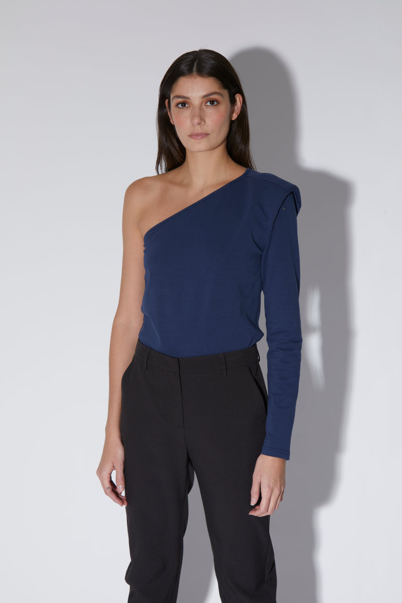 Berkley Top, Navy - Jersey Knit