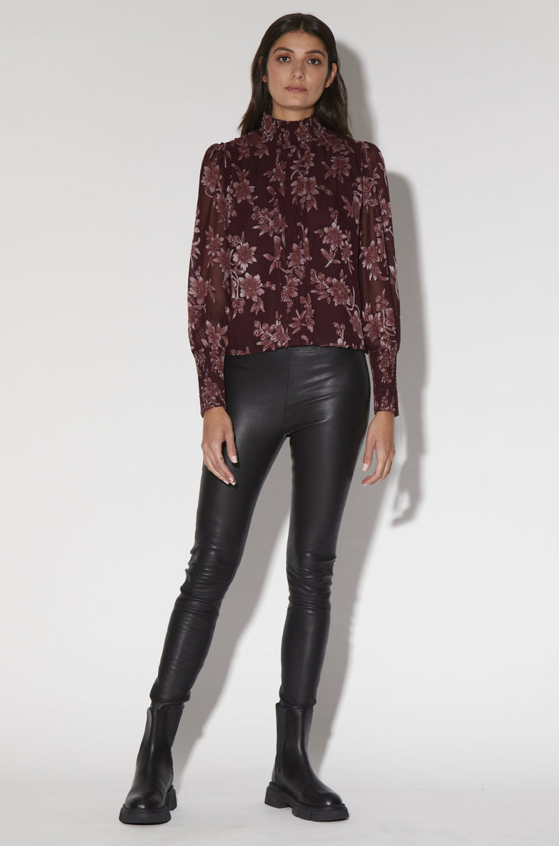 Jennifer Top, Burgundy Daisy