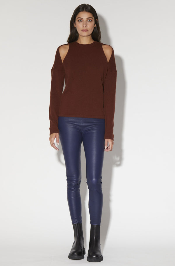 Caroline Top, Walnut - Elite Knit Cashmere