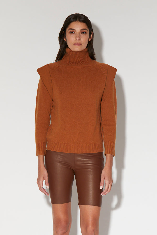 Quincey Top, Copper - Regal Knit Cashmere