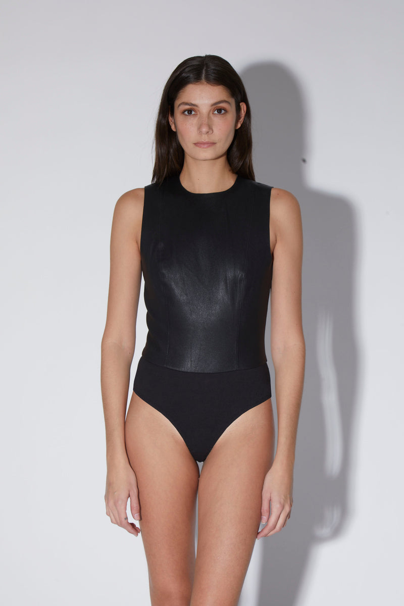 Deandra Bodysuit, Black