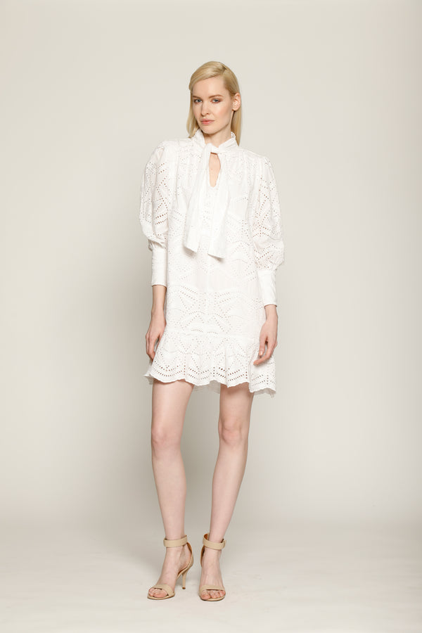 Alia Dress, White Lace