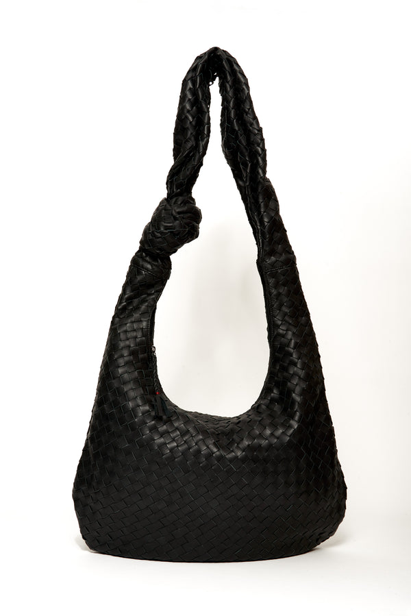 Oversized Dahlia Bag, Black