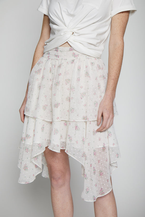 Katarina Skirt, Light Pink Floral