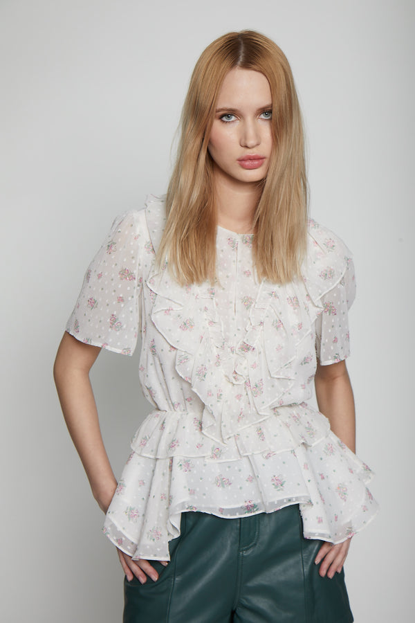 Milo Top, Light Pink Floral
