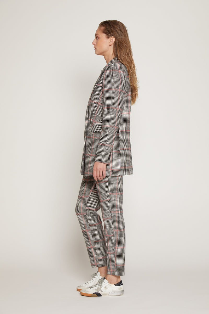 Lea Pant, Black/Red Plaid