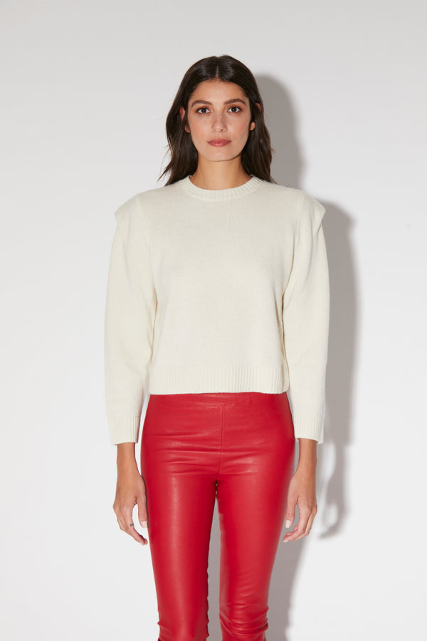 Charlotte Top, Cream - Elite Knit Cashmere