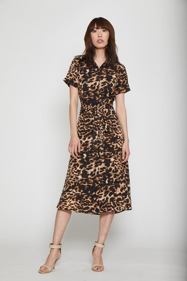 Harley Dress - Natural Leopard