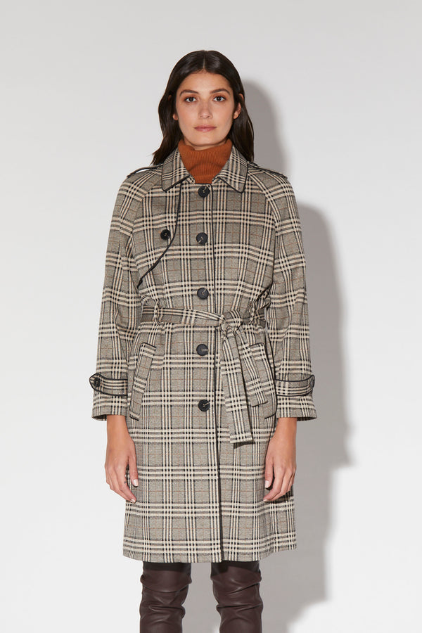 Maria Coat, Welsh Plaid - Knit