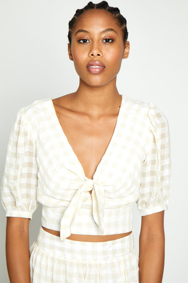 Raven Top, White/Beige