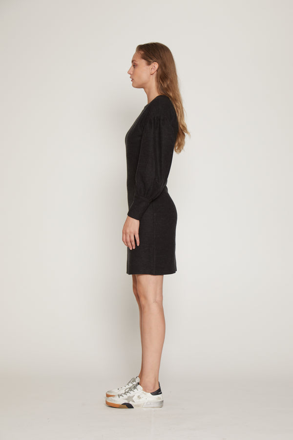 Polly Dress, Charcoal