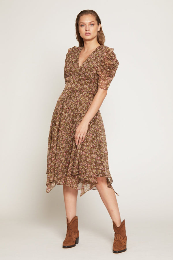 Abby Dress, Tawny Forest