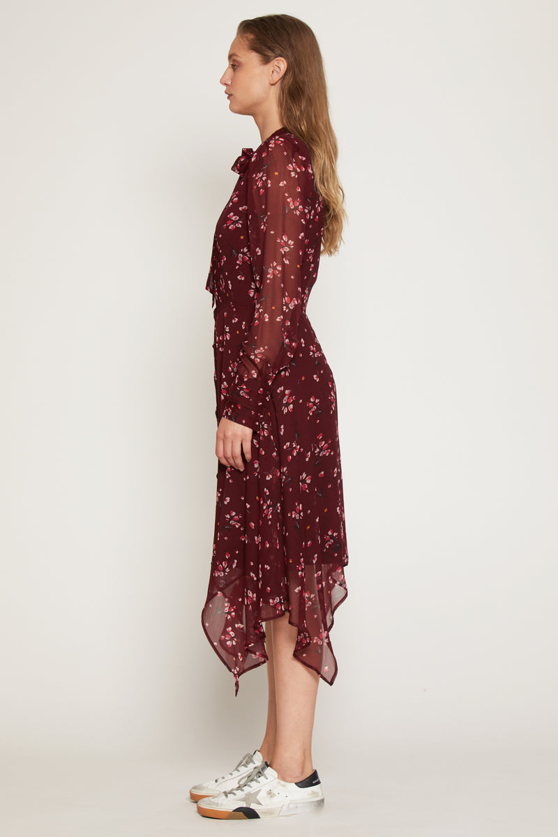Mindy Dress, Plum Petal