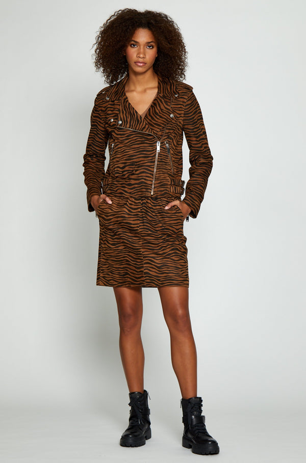 Liz Jacket, Brown Zebra