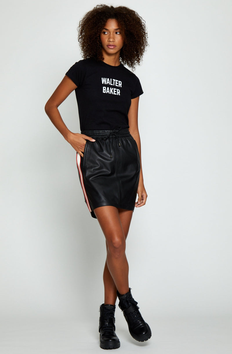 Halie Skirt, Black/Red