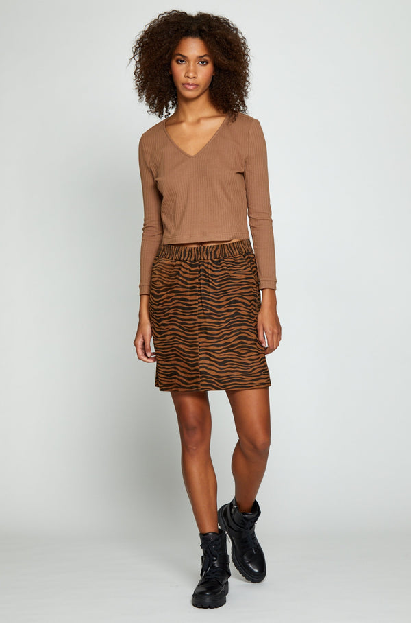 Miara Skirt, Brown Zebra