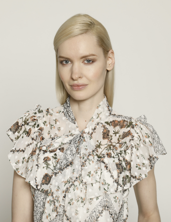 Julianna Top, Ivory Vintage Rose