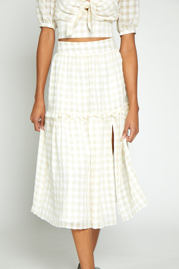 Lillian Skirt, White/Beige
