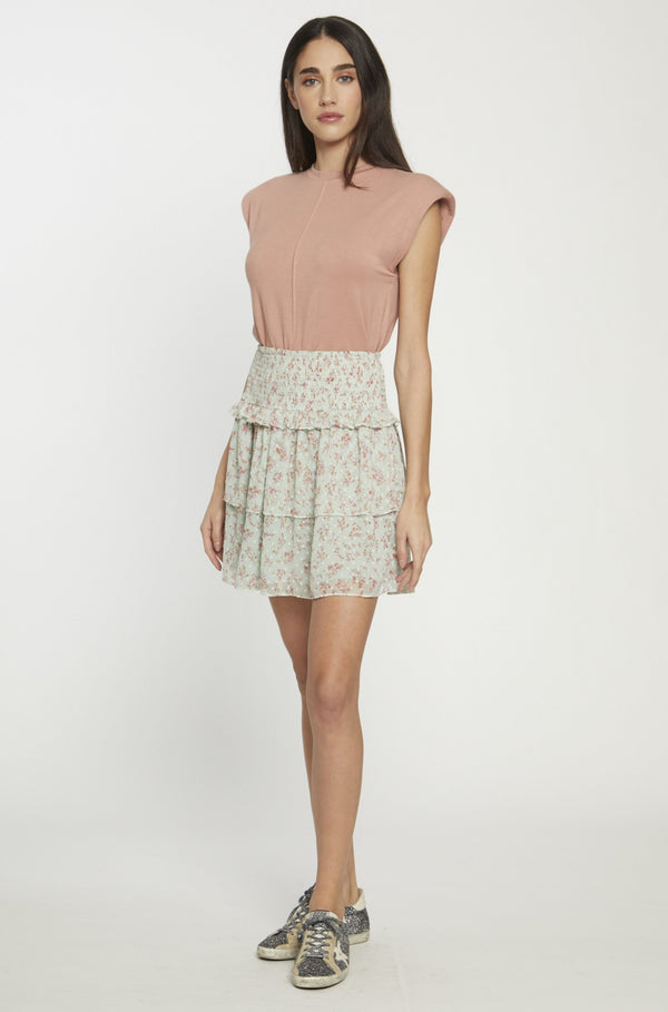 Dynasty Skirt, Mint Bloom