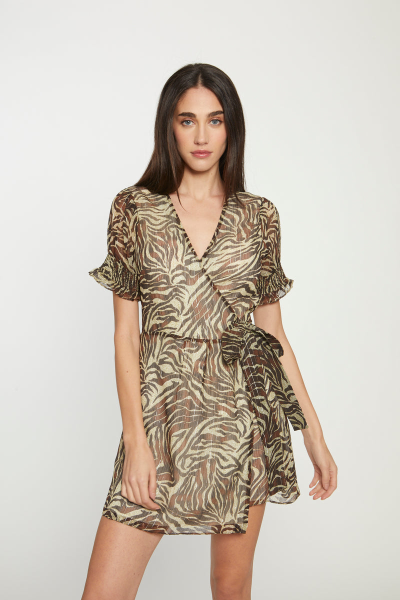 Brandi Dress, Safari Zebra