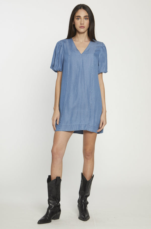 Taryn Dress, Medium Wash