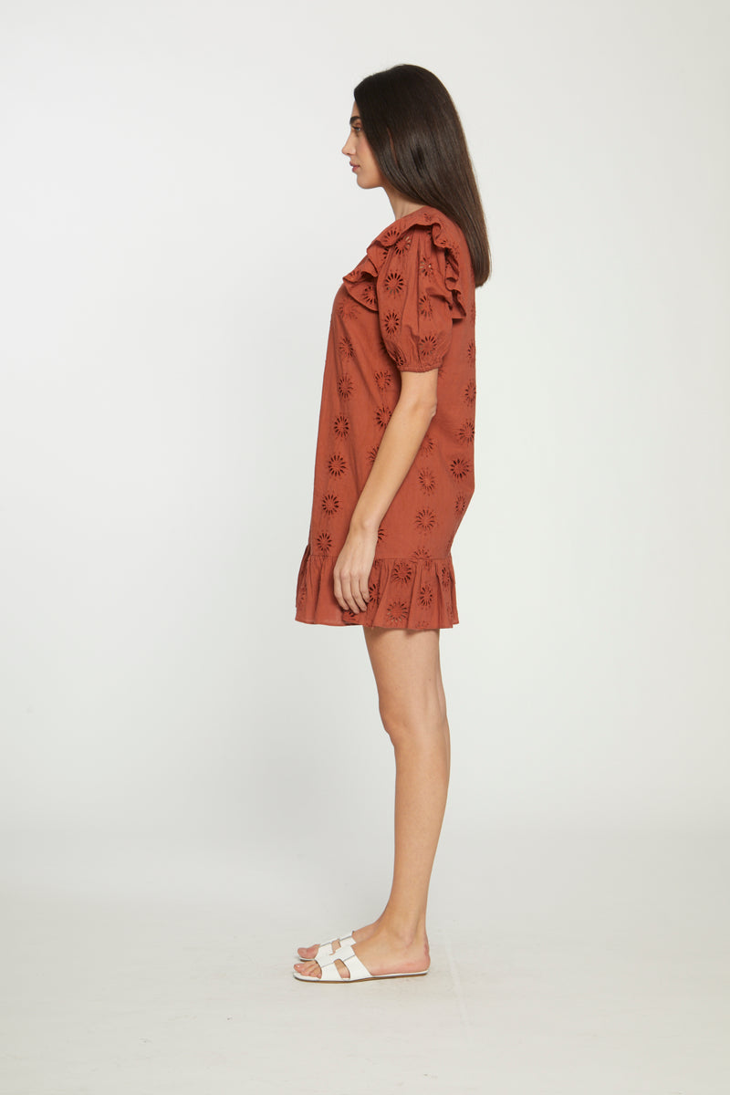 Valentina Dress, Rust