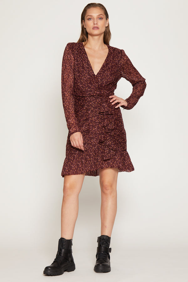 Tyrus Dress, Black Cherry