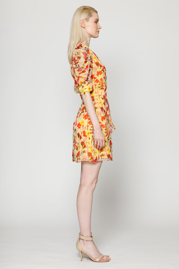 Adriana Dress, Yellow Tulip