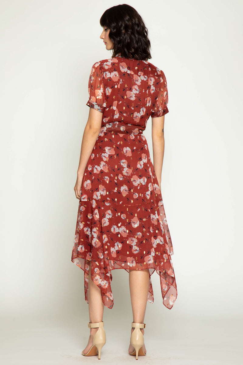 Smith Dress, Berry Hibiscus