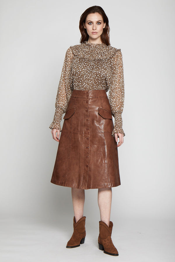 Stiller Skirt, Terracotta