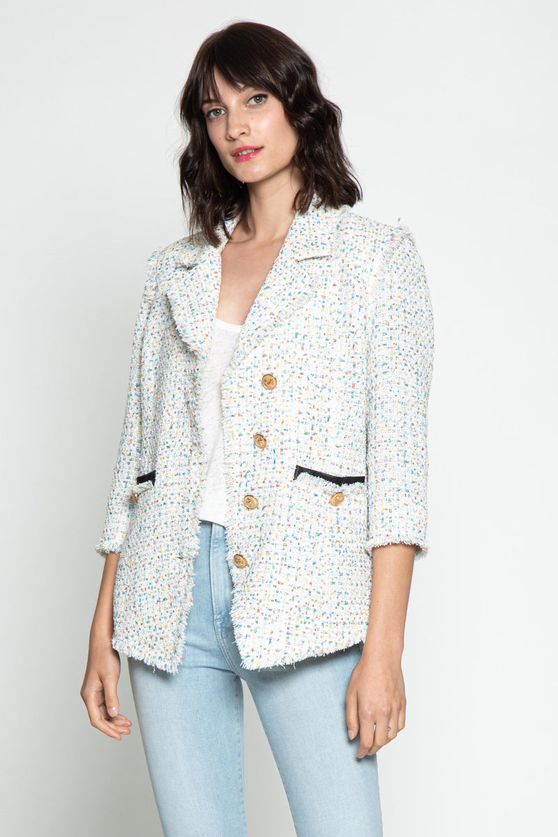 Fanta Jacket, White Tweed