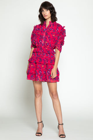 Resse Dress, Dragonfruit Floral