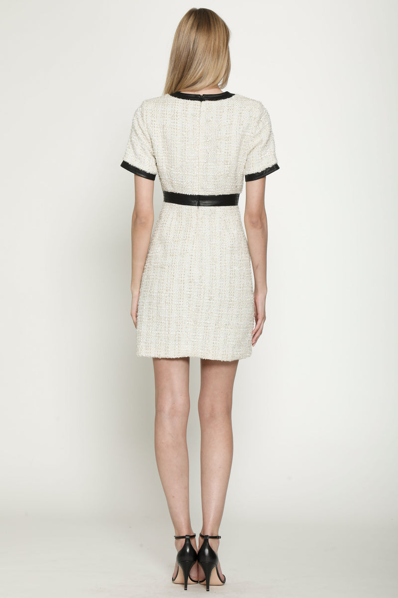 Giedda Dress, Gold Tweed