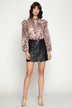 Jamie Leather Skirt
