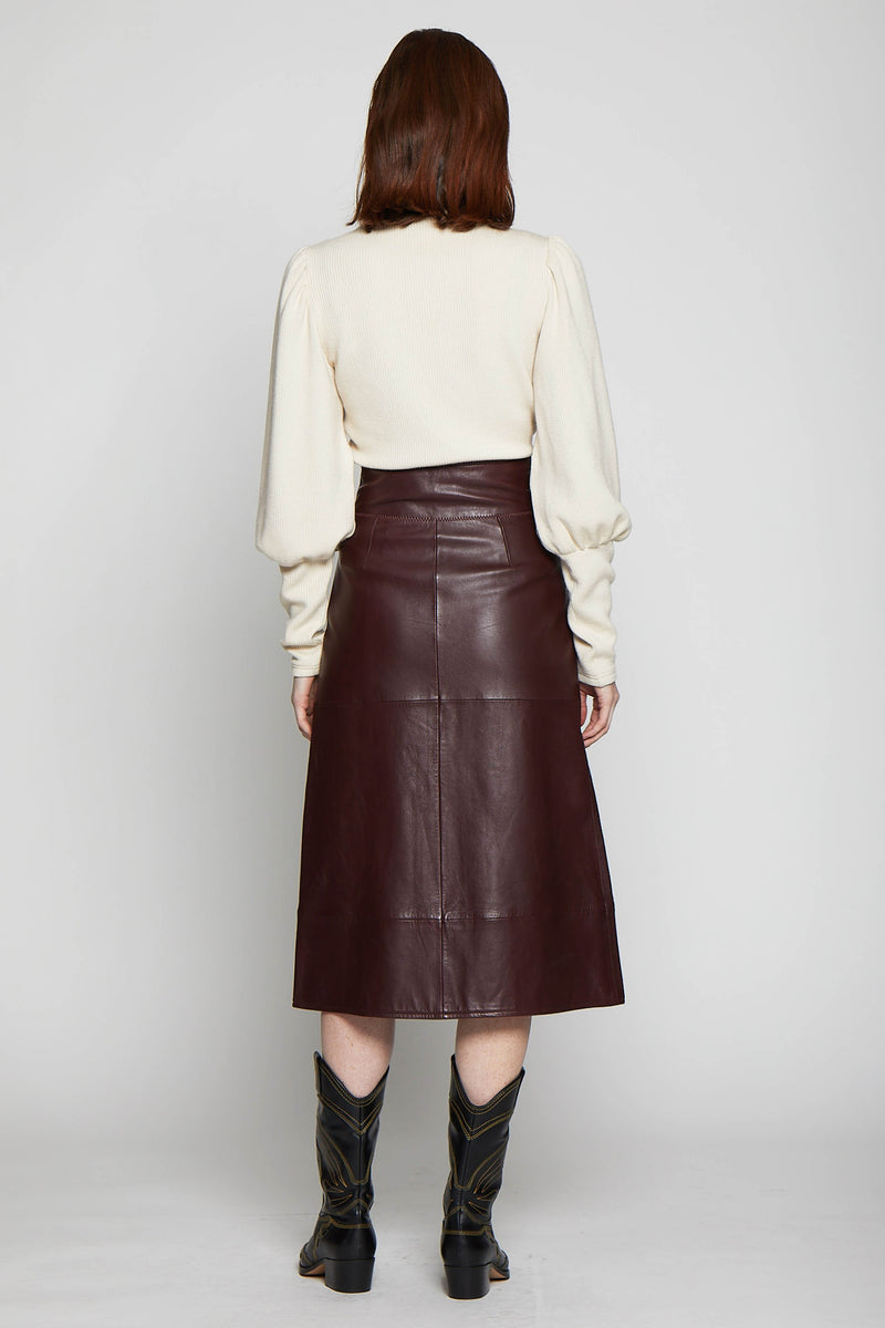 Jaz Skirt, Burgundy