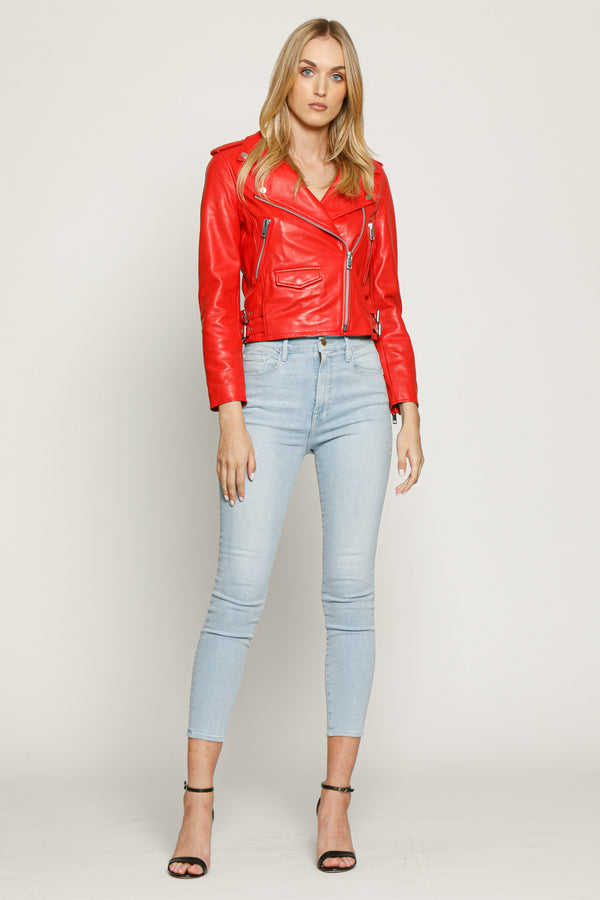 Liz Jacket, Ruby Red