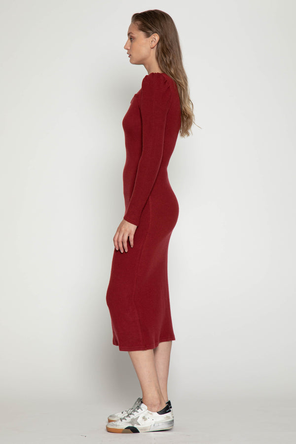 Orla Dress, Burgundy