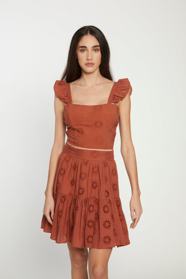 Violette Top, Rust