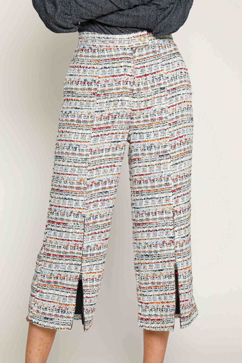 Tesla Pants, Blue Tweed