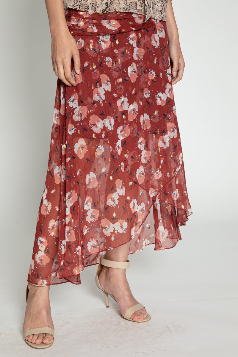 Kingston Skirt, Berry Hibiscus
