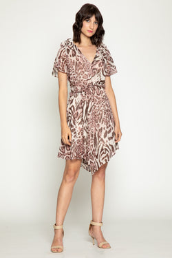 Elaine Dress, Wild Zebra
