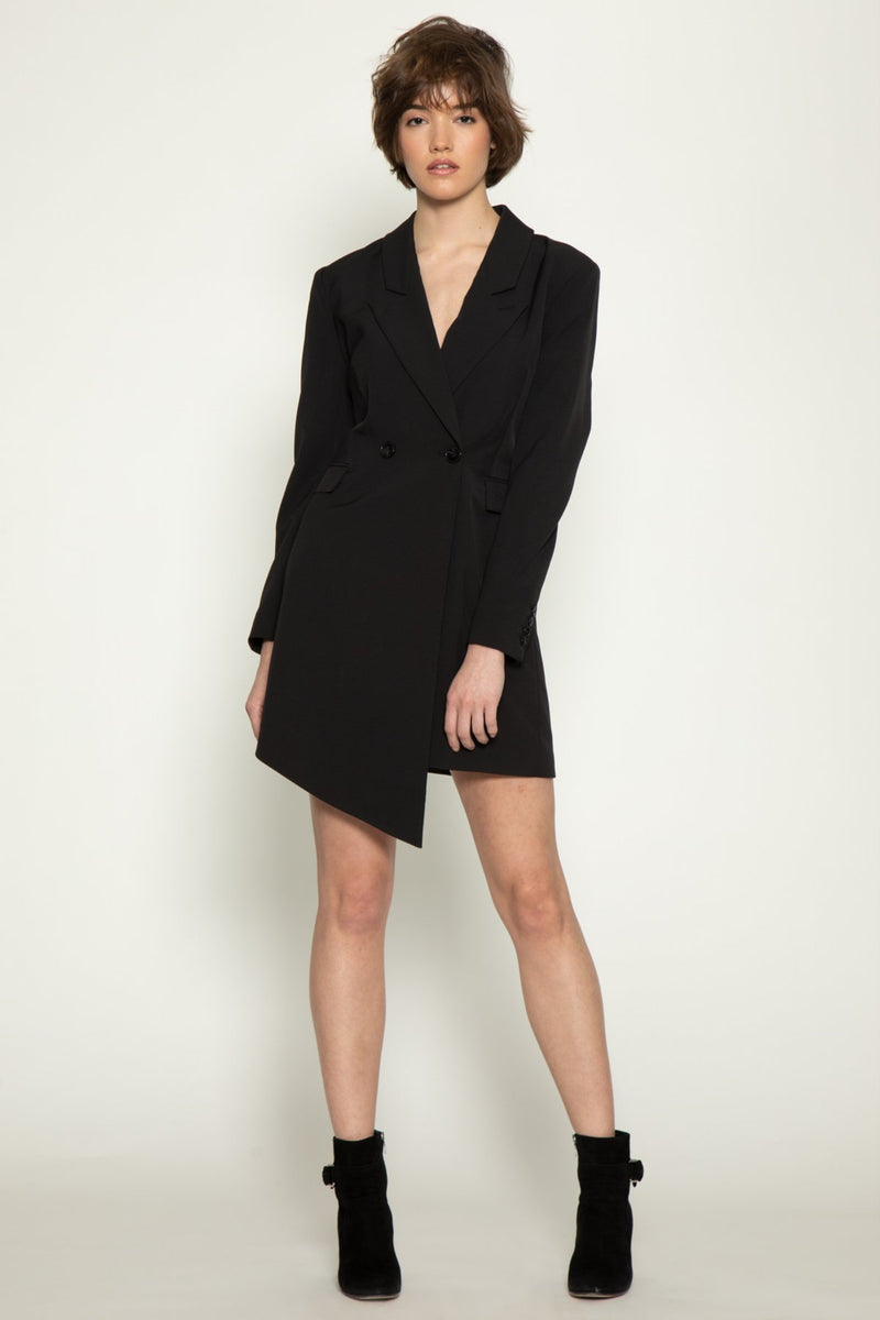 Rona Suit Dress, Black
