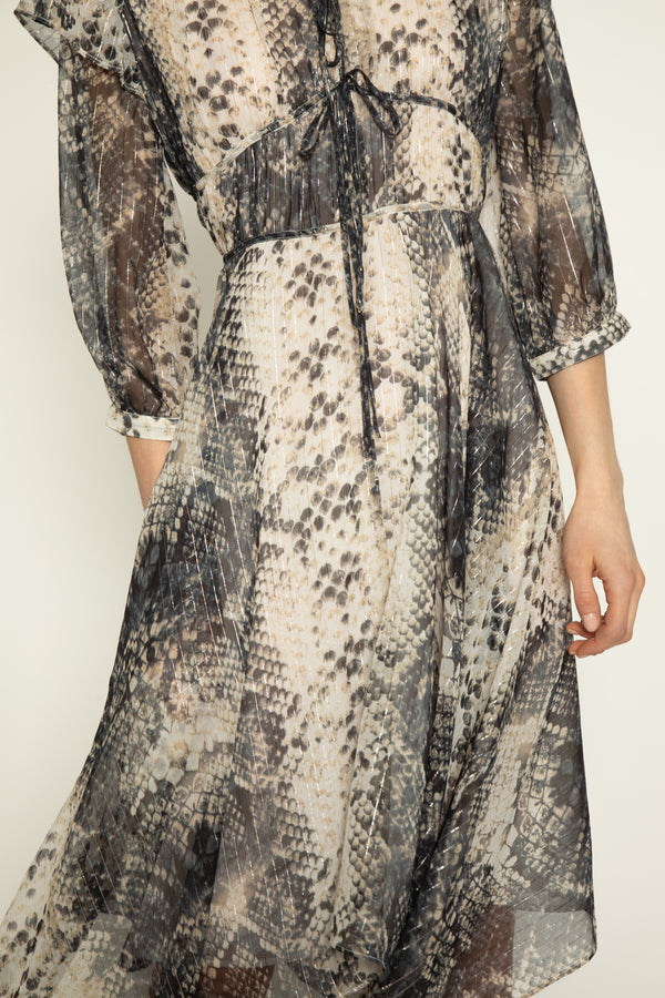 Angelo Dress, Snake Lurex