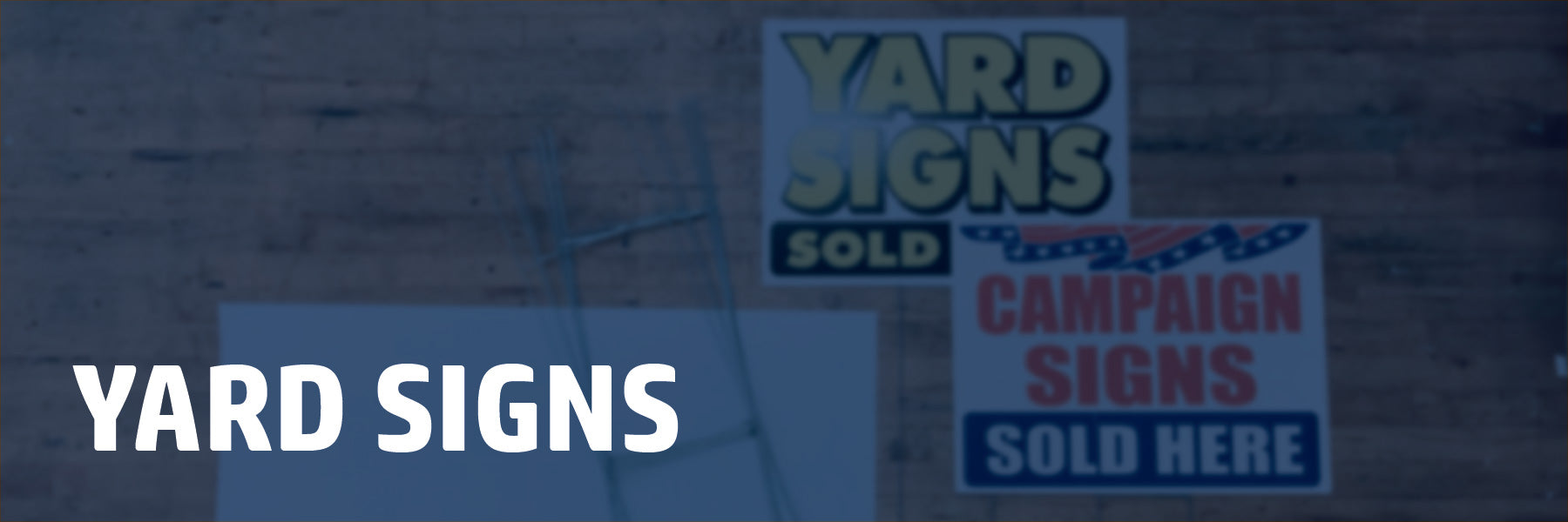 cheap plastic yard signs election campaign signs