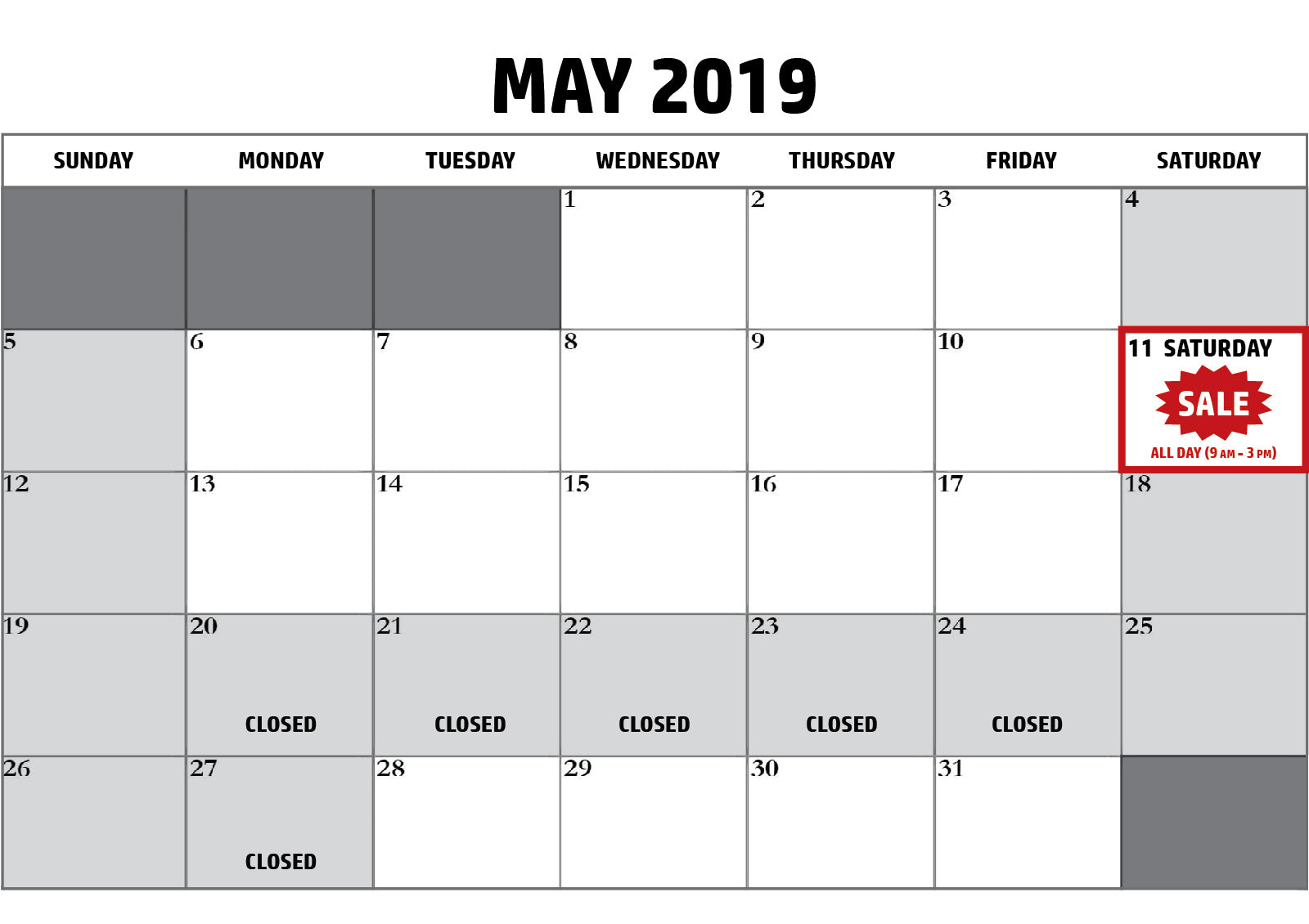 Bellingham sign shop hours of operation May 2019