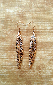 Earrings - Gold Color / Leaf