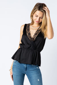 Vocal Satin Lace Top