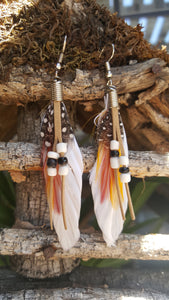 Feather (White) Earrings
