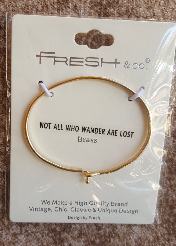 Bracelet  (Not all who wander are lost)