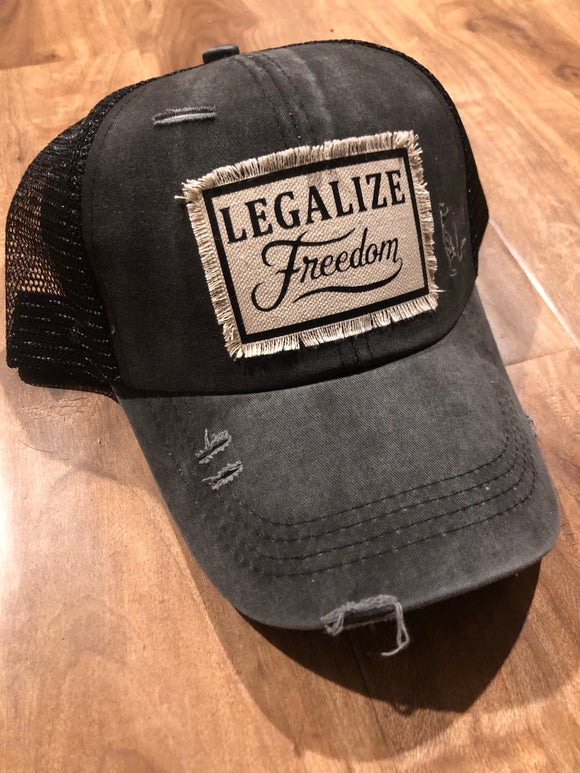 Legalize freedom Cross back hat